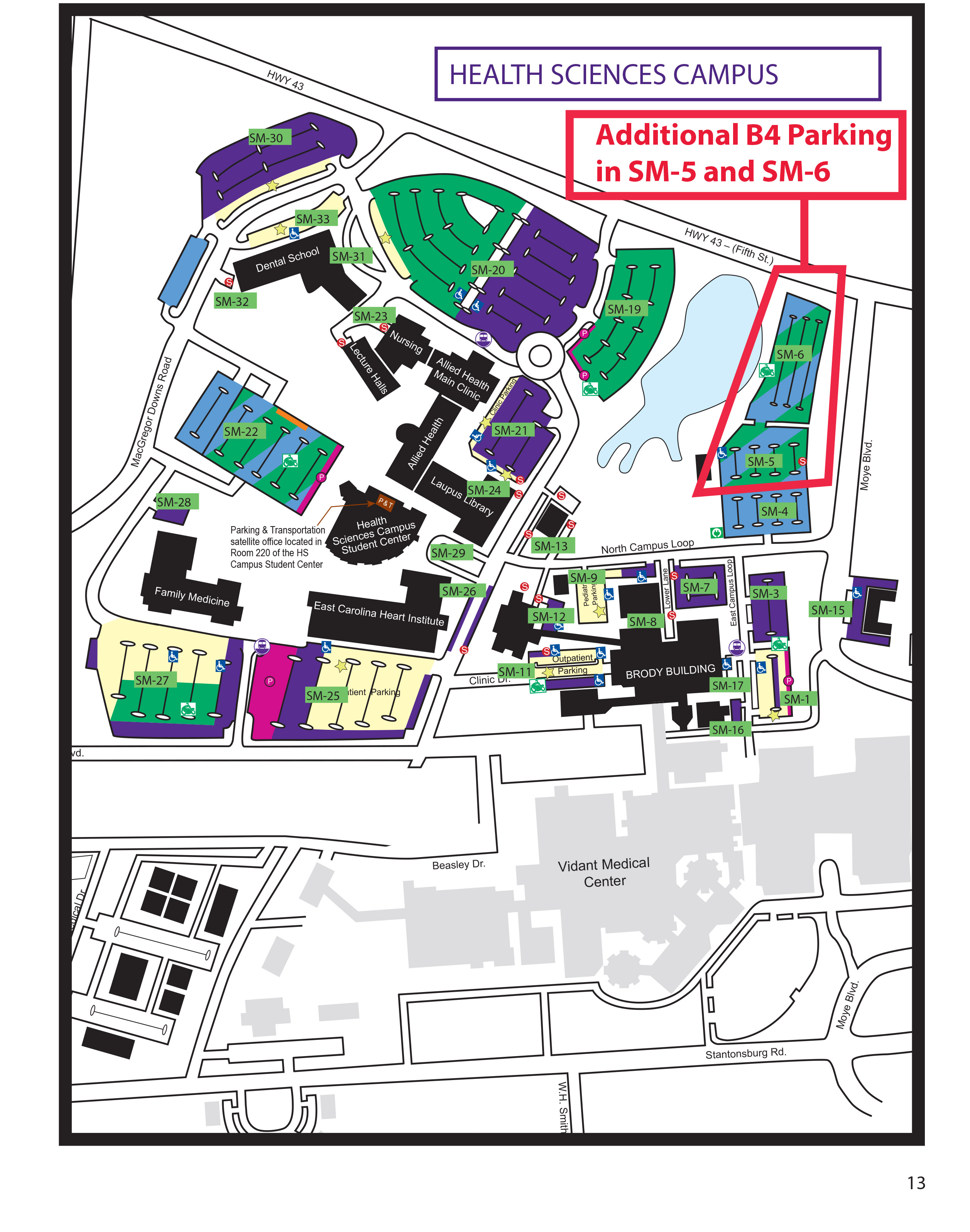 east carolina university campus map Welcome Parking Transportation Ecu east carolina university campus map
